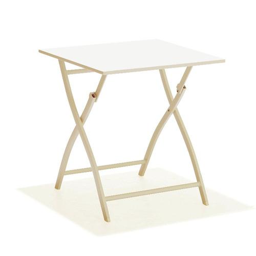 mesa de aluminio plegable zeus color champagne