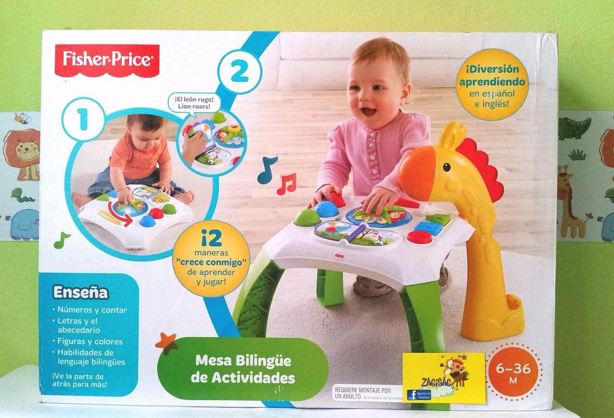 Mesa de aprendizaje biling e fisher price original nuevo for Mesa fisher price