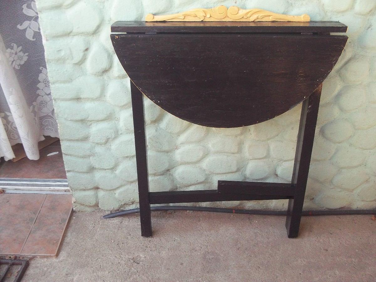 Mesa de arrime de madera antigua desarmable for Mesas antiguas de madera