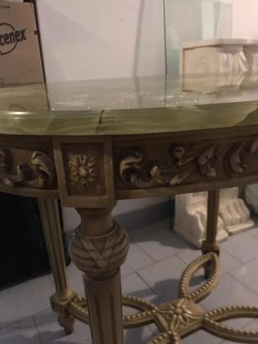 mesa de arrime de sala  antigua est francés con marmol