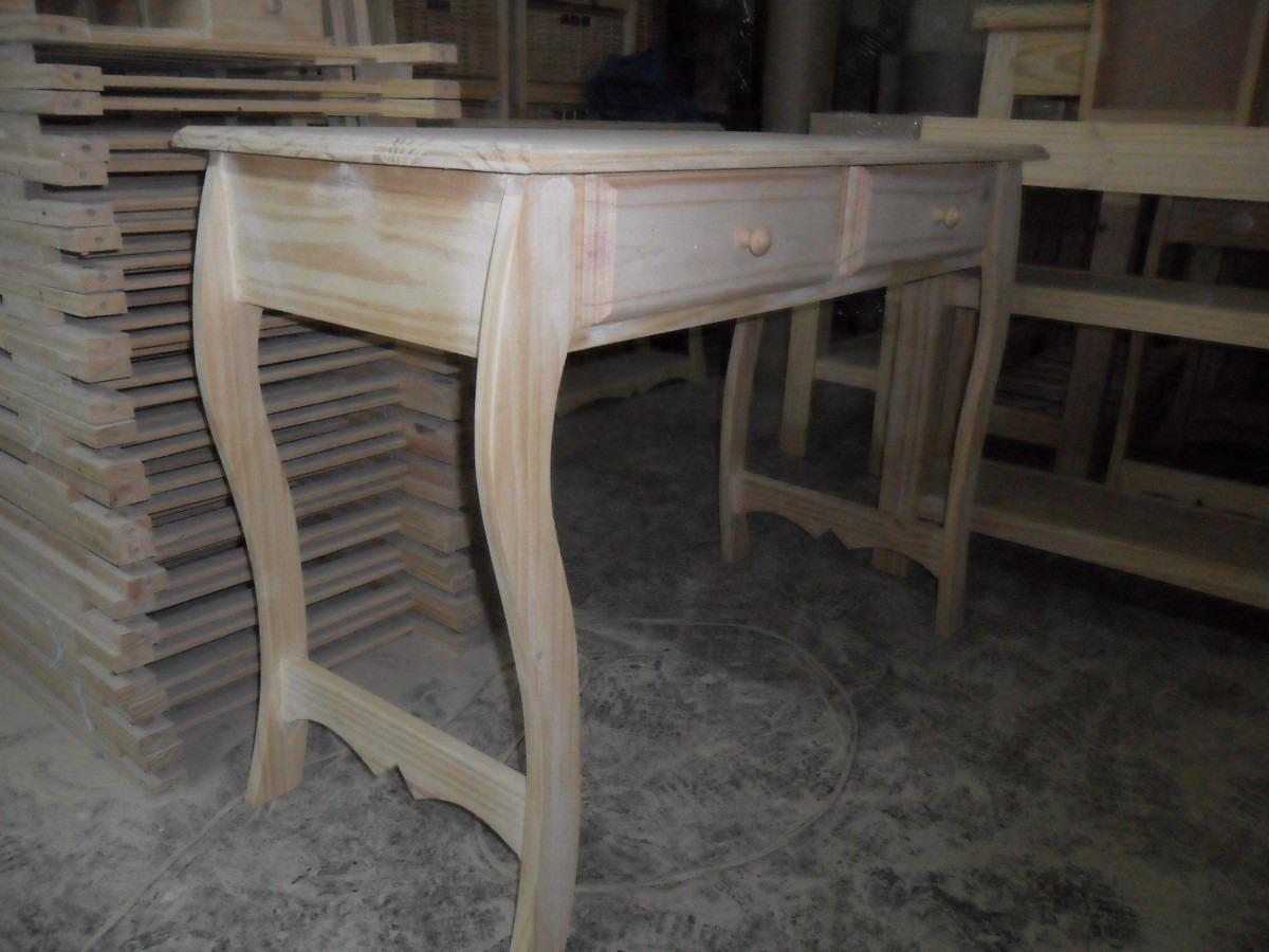 Mesa de arrime escritorio madera pino 980 00 en - Mesas de escritorio de madera ...