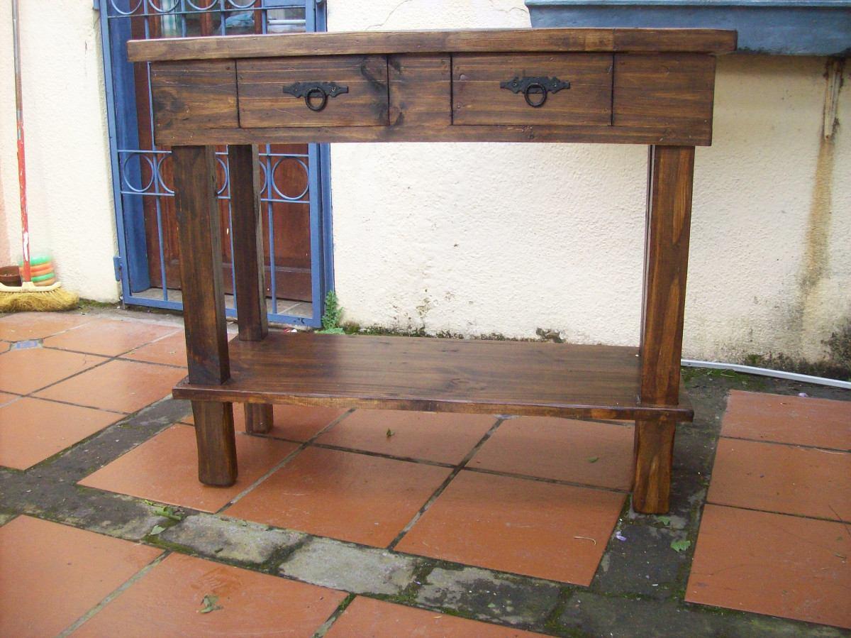 Mesa de arrime madera maciza rustica en for Mesa madera maciza rustica