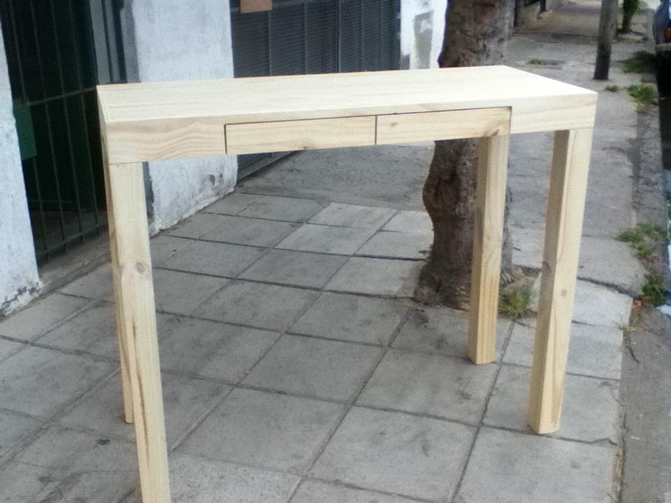 mesa de arrime recibidor madera pino x cm