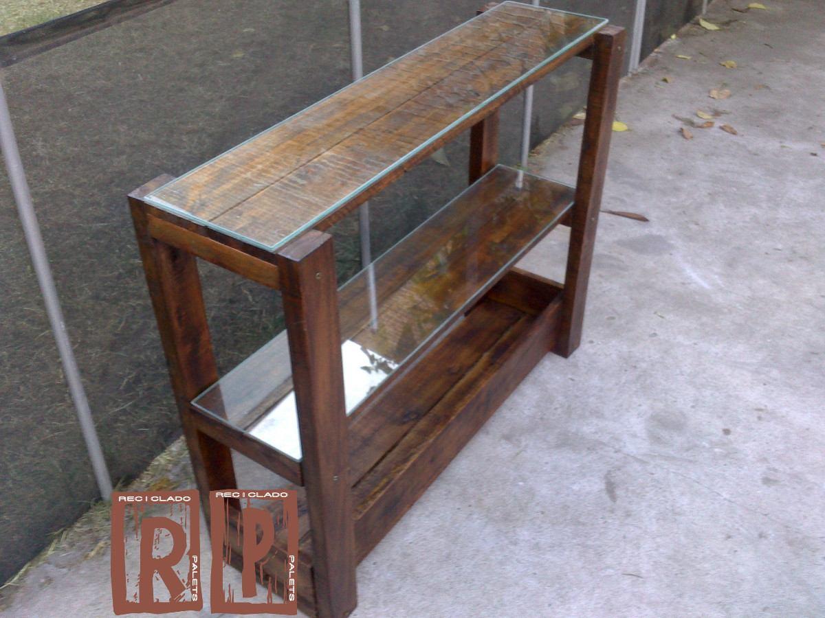 Mesa de arrime rustica de madera reciclada de palets 1 - Mesa madera rustica ...