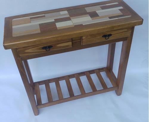 mesa de arrimo madera - color caramelo oferta