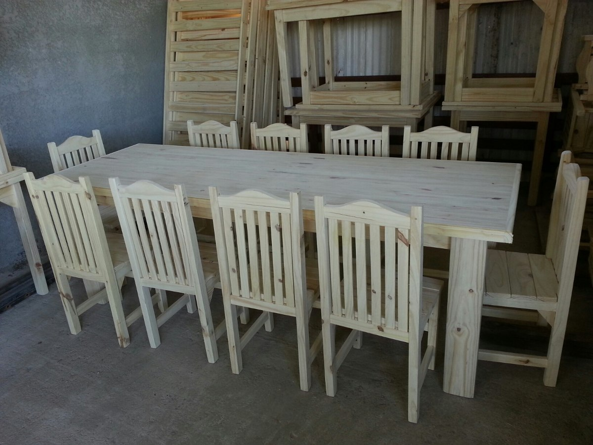 Mesa de barbacoa fiestas comedor madera maciza oferta for Mesas de comedor ofertas