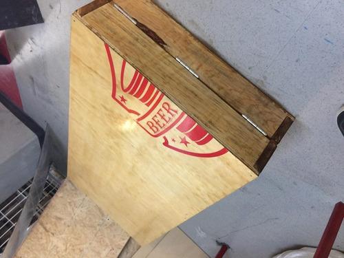 mesa de beer pong de madera, plegable