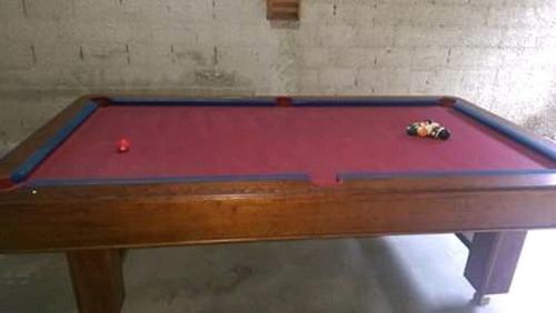 mesa de billar con accesorios taco y bolas original 400