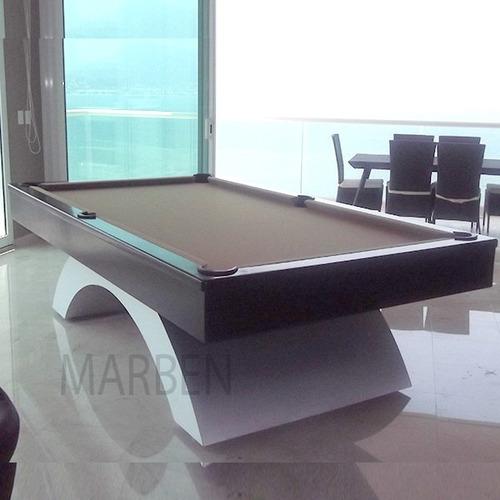 mesa de billar imperial pata de aluminio - envio gratis (r)
