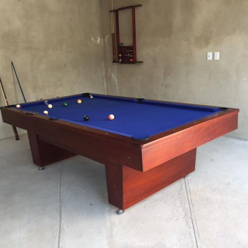 mesa de billar pizarra de piedra modelo california - bago