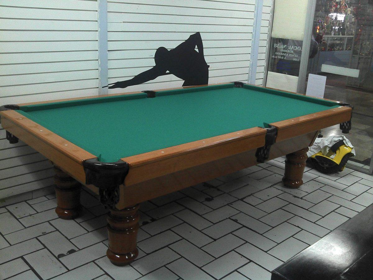Mesa de billar tallada en madera de banak 38 for Mesas de billar modernas