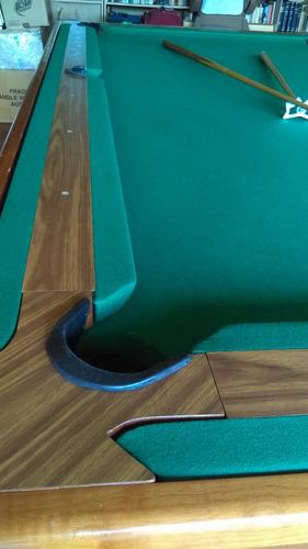 mesa de billar y carambola convertible.
