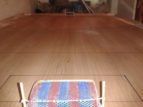 mesa de botão - formica - mateial reciclavel