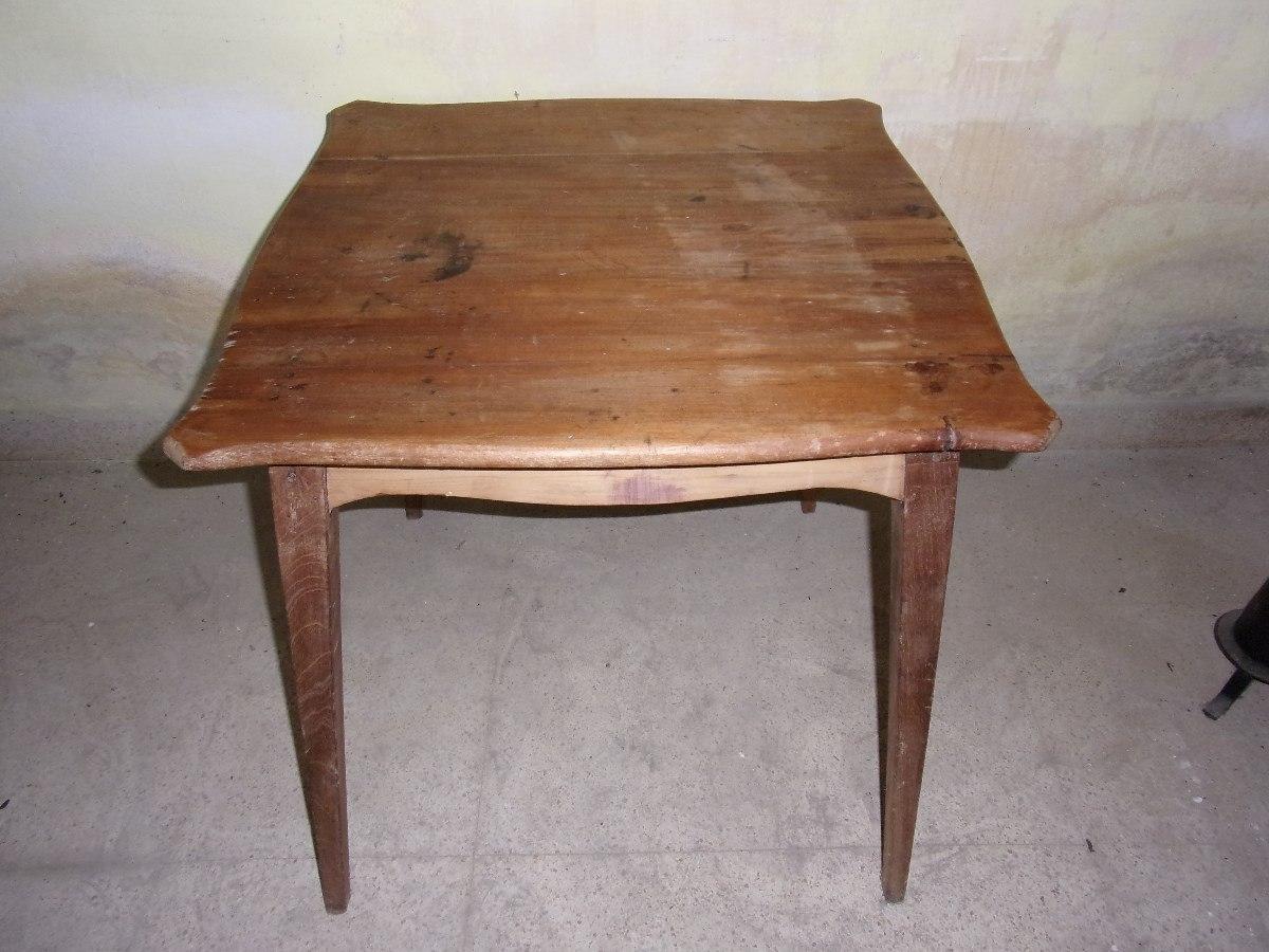 Mesa de buena madera ideal por su tama o y dise o 3 for Muebles maldonado precios