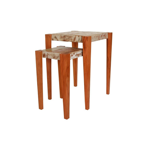 mesa de cabeceira mesa de canto madeira maciça de demolição