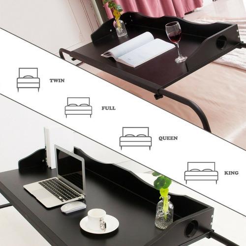 mesa de cama portátil computadora bandeja twin a king negra