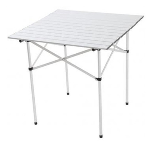 mesa de camping aluminio andorra dobrável de montar 69x69x69