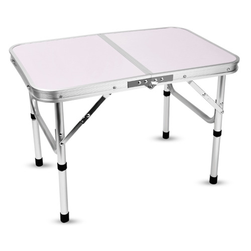 mesa de camping plegable aluminio 60 x 40.5 x 24 / 41.5 cm