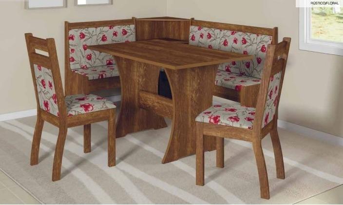 Mesa De Canto Cozinha Jantar Alemão Com 2 Cadeiras Soneto R