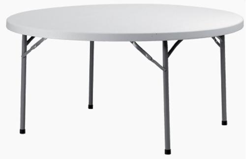 mesa de catering redonda plegable de 154 cm para eventos