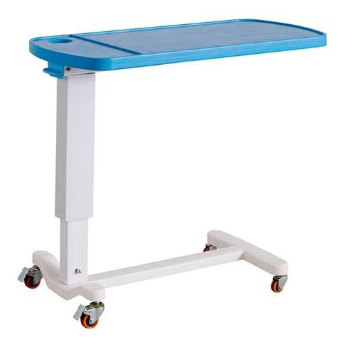 mesa de catre hospitalario con ruedas regulable para comer