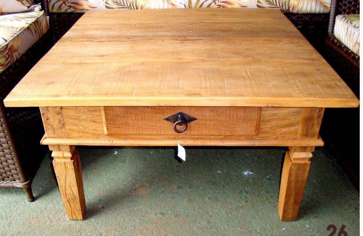Mesa de centro 3 modelos madeira de demoli o peroba rosa - Modelos de mesa de centro ...