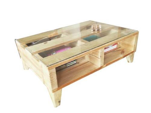 mesa de centro carolina 80x60x35 madera pantano pallet mesa
