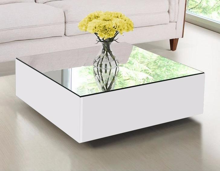 Mesa de centro com espelho rodinhas silicone - Baul mesa de centro ...