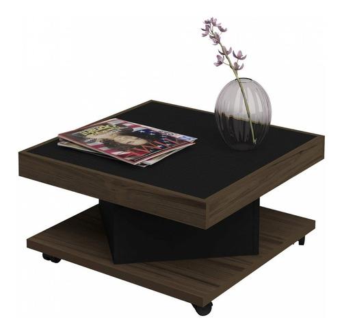 mesa de centro com rodízio saara artely ic