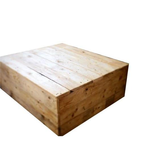mesa de centro cubo 80x80x32 madera pantano pallet mesa