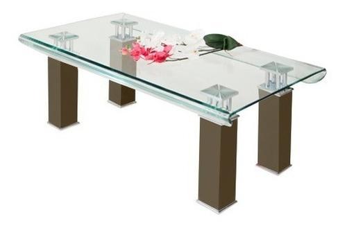 mesa de centro curvi chocolate këssa muebles