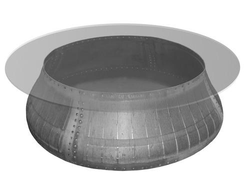 mesa de centro customizada (aro de turbina de avião)