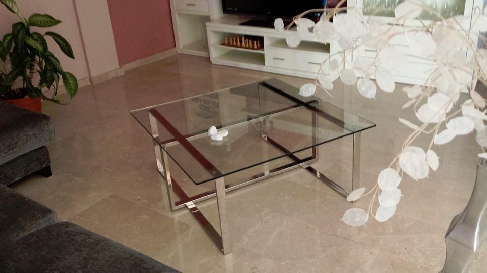 Mesa de centro de acero inoxidable s 950 00 en mercado for Modelos de mesas de centro de sala