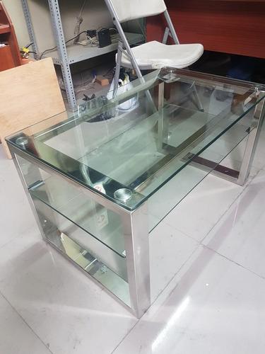 mesa de centro de acero inoxidable