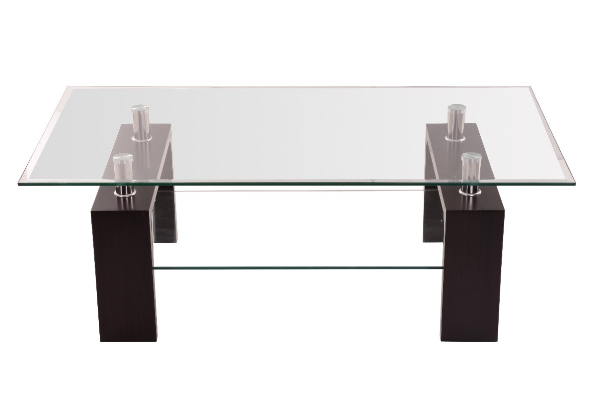 Mesa de centro de cristal minimalista mesas de centro sala for Mesas de centro de sala de vidrio