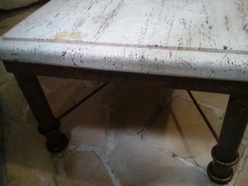 mesa de centro de granito hierro color bronce
