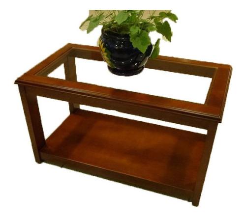 mesa de centro de madera - mod:acuario - casa bonita muebles