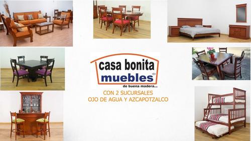 mesa de centro de madera, modelo:niza - casa bonita muebles