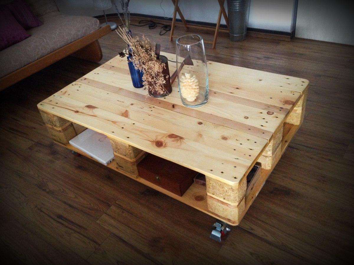 Mesa de centro de madera reciclada 2 en mercado for Centros de mesa de madera