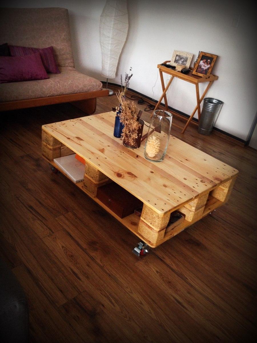 Mesa de centro de madera reciclada 2 en mercado for Mesa centro