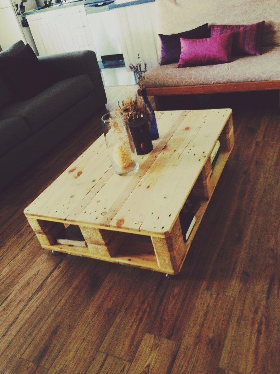 Mesa de centro de madera reciclada 2 en mercado - Mesa de centro de palet ...