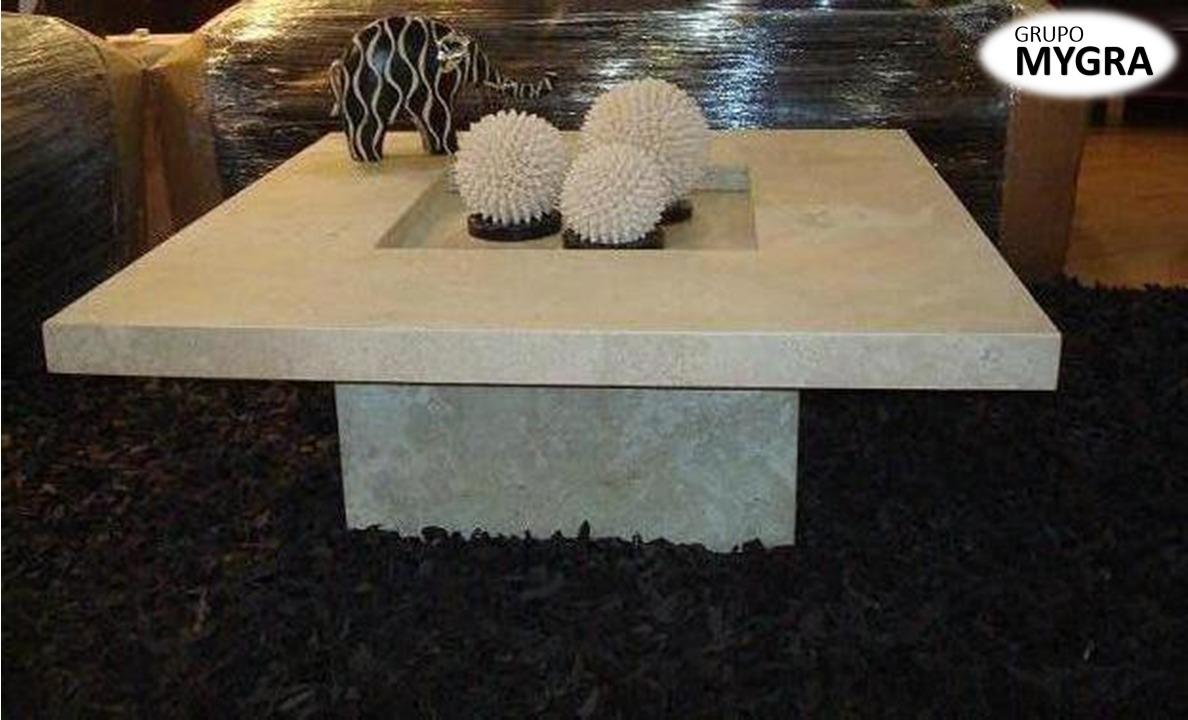 Mesa de centro de m rmol granito cuarzo con vidrio s 90 for Mesas de marmol y granito