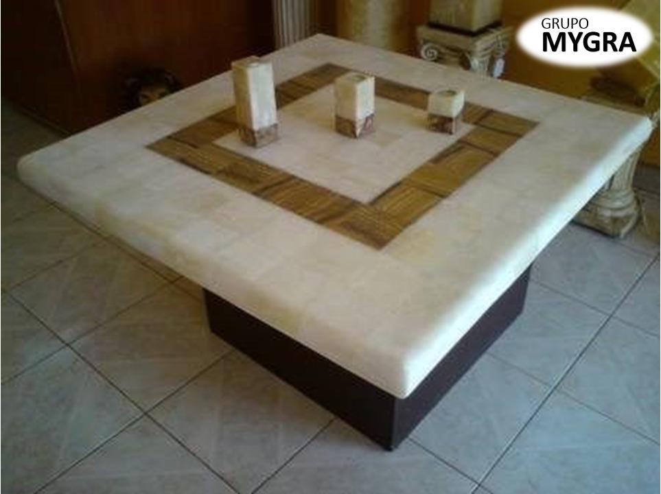 Mesa de centro de m rmol granito cuarzo con vidrio s 90 - Mesas de marmol y cristal ...
