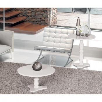 mesa de centro e mesa lateral intense branco - patrimar