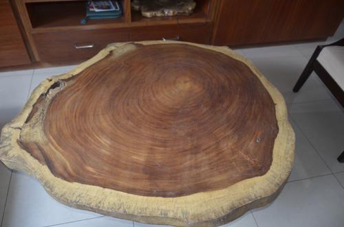 mesa de centro en madera de parota