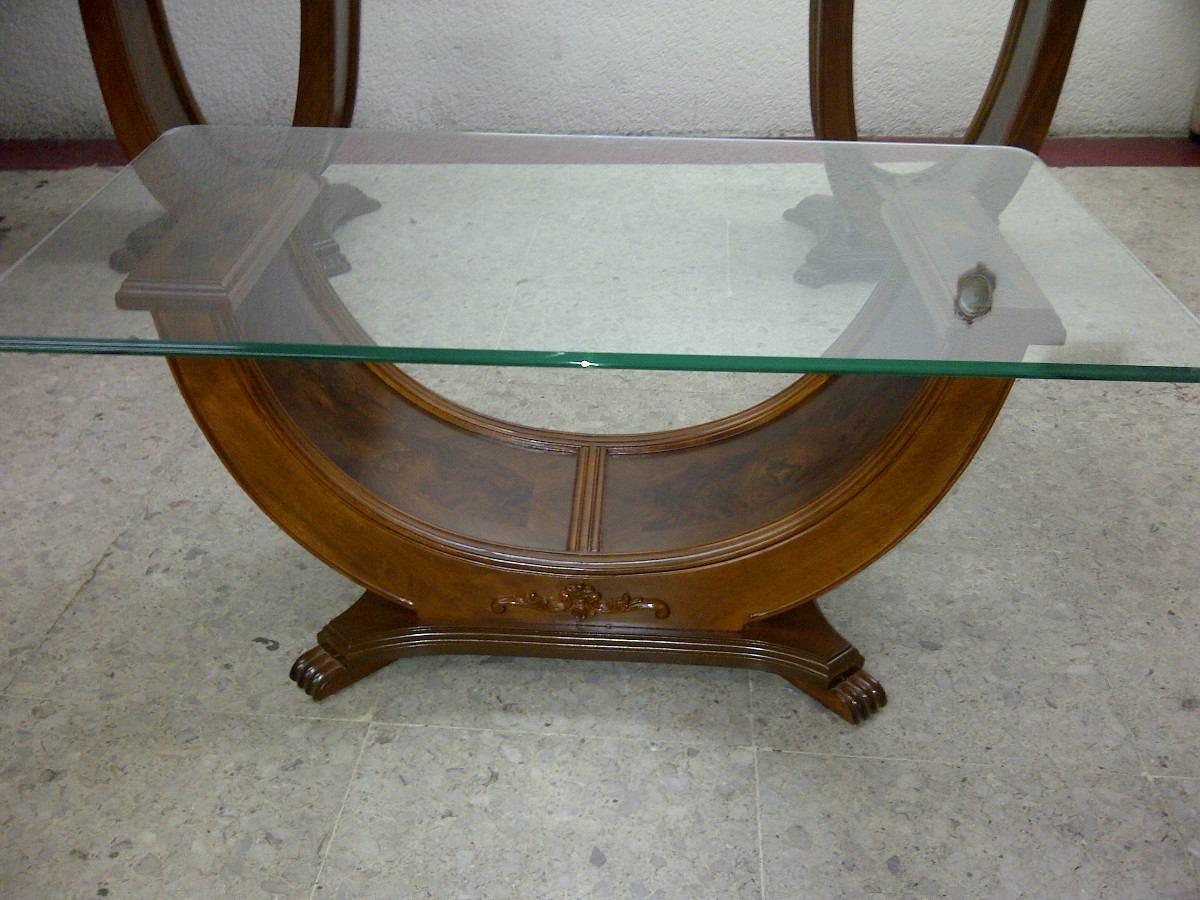 Mesa de centro en madera fina estilo provenzal modernista - Mesas de madera hechas a mano ...