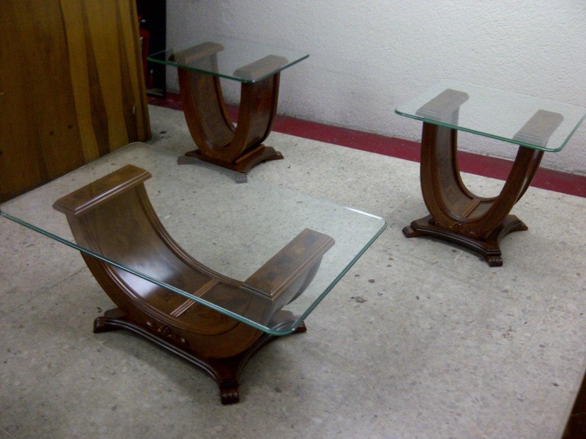 Mesa de centro en madera fina estilo provenzal modernista - Mesas de centro de madera ...