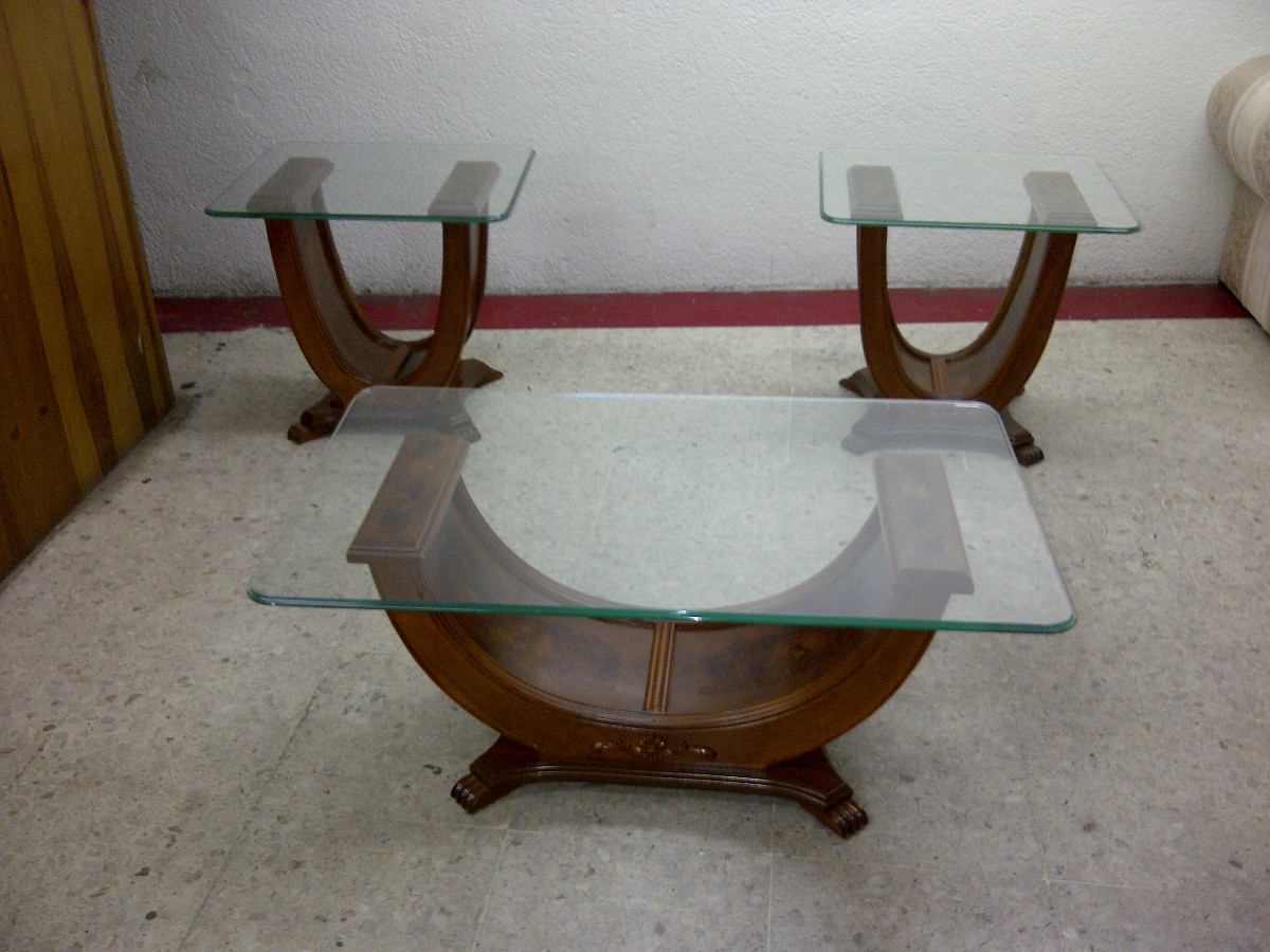 Mesa de centro en madera fina estilo provenzal modernista for Mesas de madera para sala