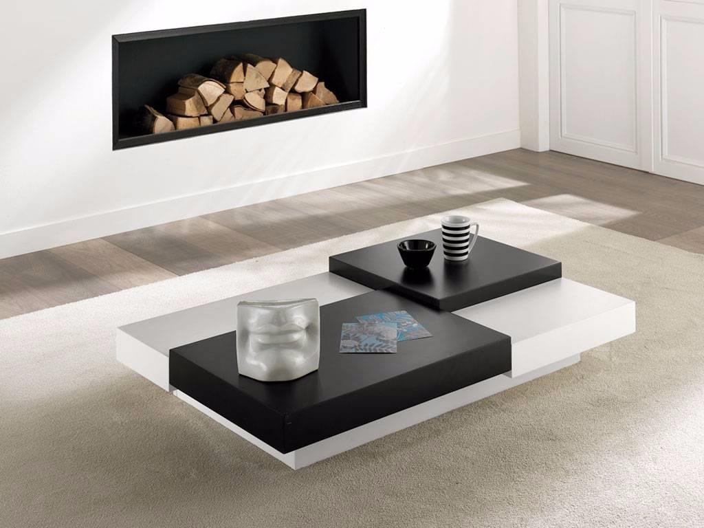 Mesa de centro en madera lacada 100 cm x 60 cm ref italia for Tavoli moderni da salotto