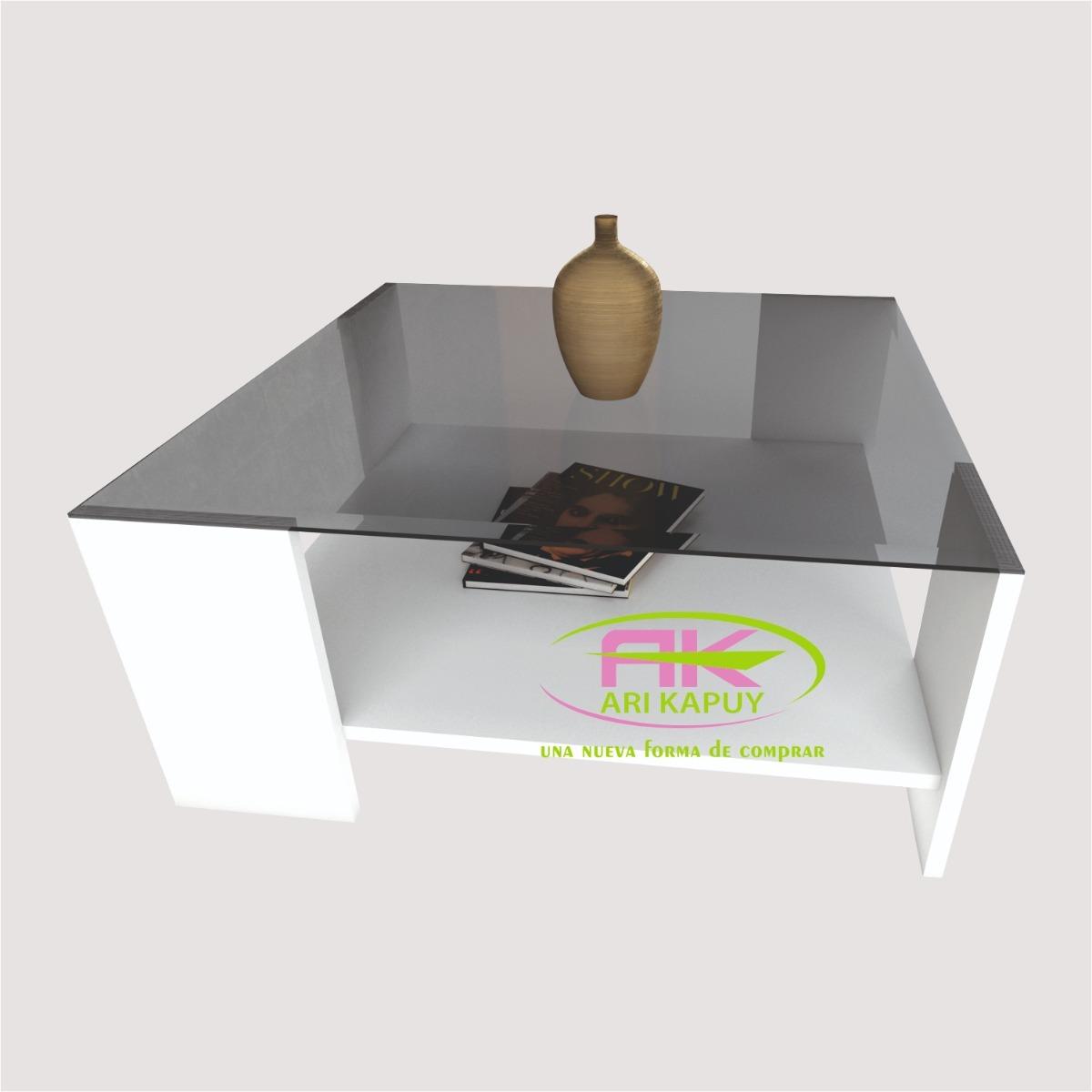 Mesa De Centro En Melamina / Sala, Oficina, Dormitorio